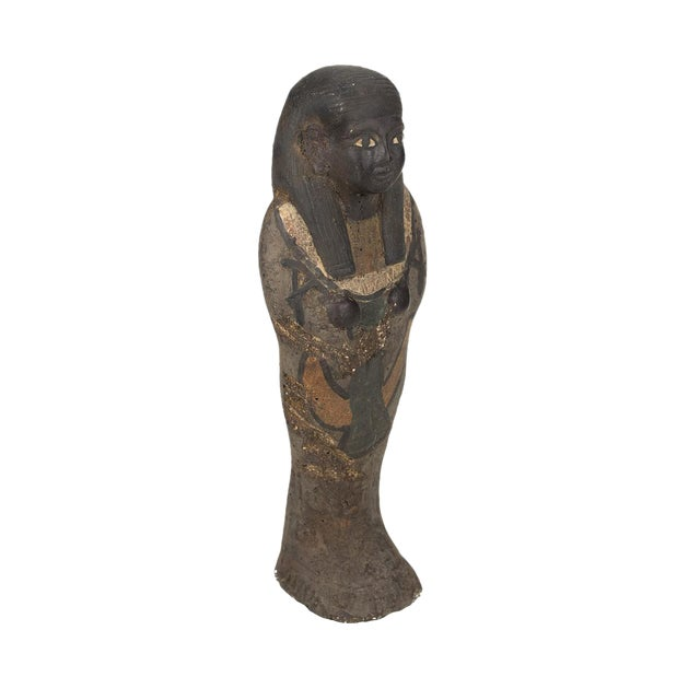 Antique Egyptian Carved Stone Pharaoh Figurine For Sale