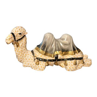 Herend Hand Painted Camel Figurine For Sale