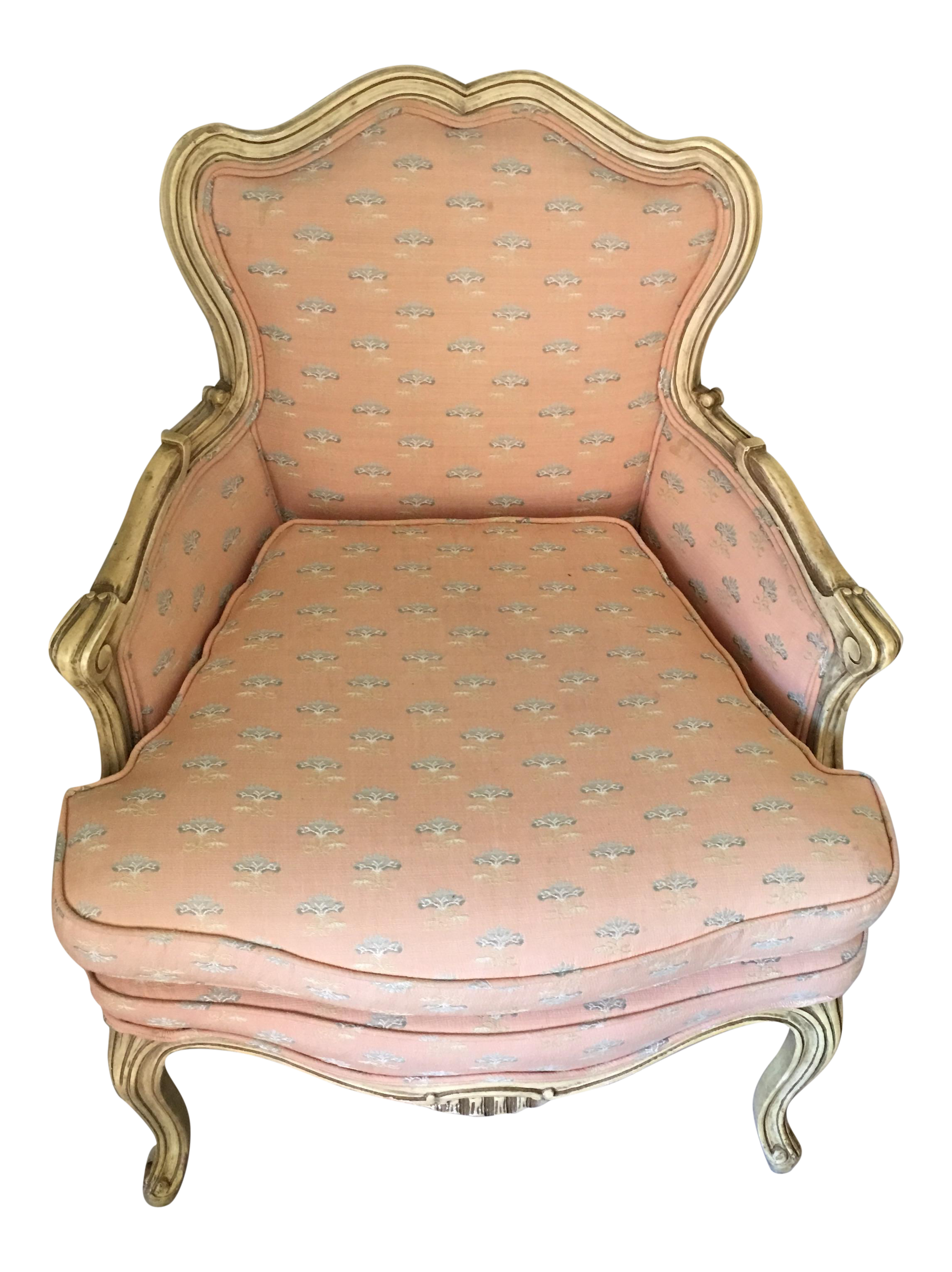 Antique Victorian Pink Accent Chair