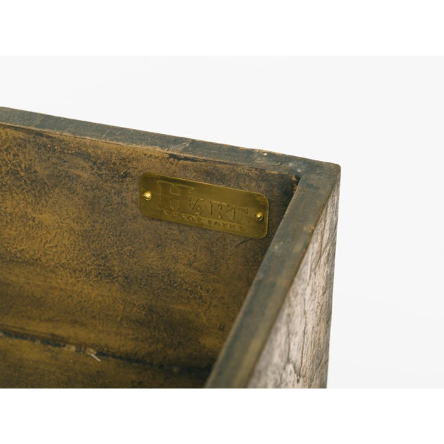 Leather Trunk on Brass Base by Hart Associates For Sale - Image 9 of 12