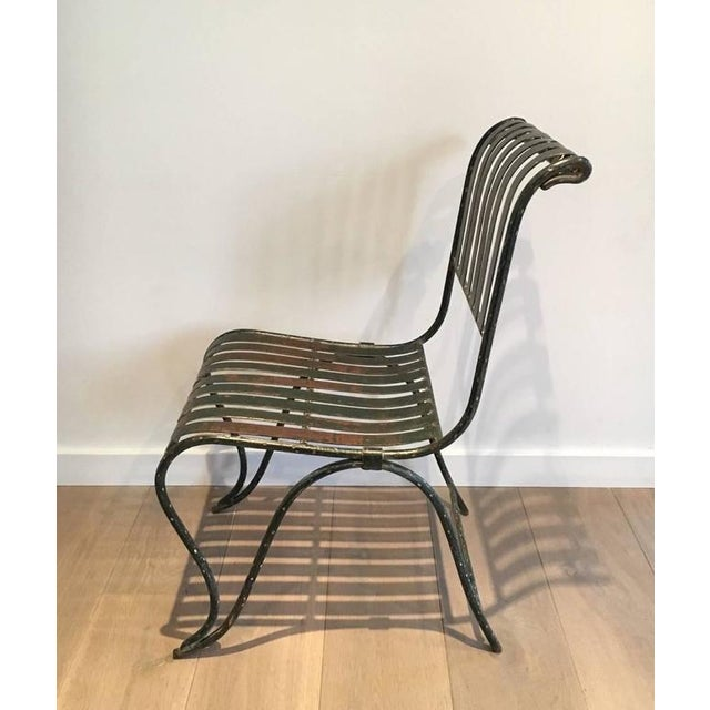 French Wrought Iron Garden Chair - Image 3 of 11
