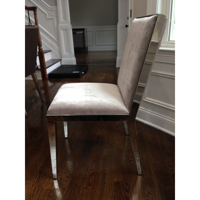 Modern Velvet Dining Chairs - Set of 6 For Sale - Image 4 of 5