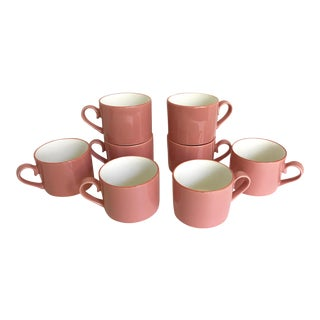 Japanese International Semi-Porcelain Mugs - Set of 8