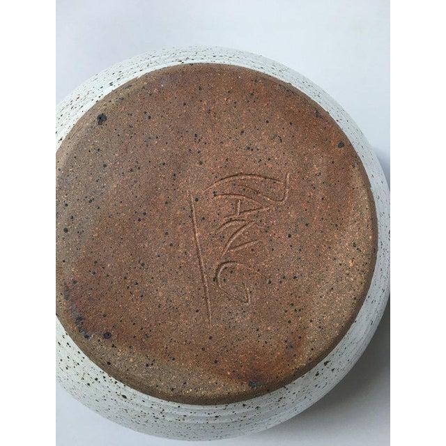 Brown Closed Form Vase Studio Pottery Ceramic Vessel For Sale - Image 8 of 10