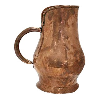 Oversized Antique French Copper Pitcher