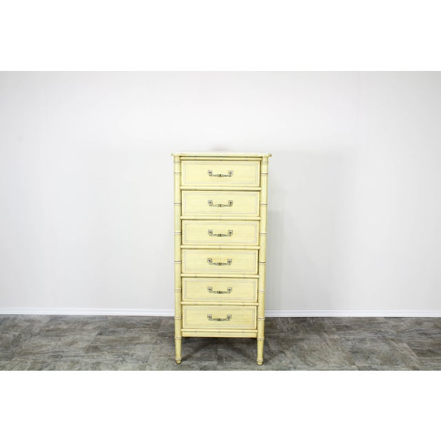 Mid-century canary yellow lingerie chest of six drawers by Henry Links Solid built, in great vintage condition, this chest...