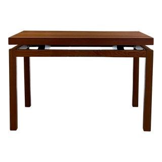 1980s Scandia Modern Floating Solid Teak Wood Side Table For Sale