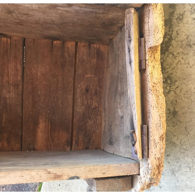 18th Century English Pine Curved Settle Bench - Image 10 of 11