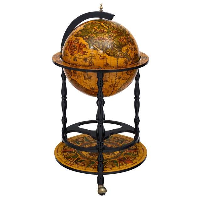 Italian Vintage Globe Bar Cart For Sale - Image 10 of 10