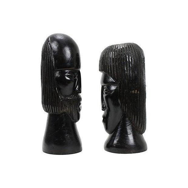 Jamaican Couple Modern Wood Sculptures - Image 2 of 4