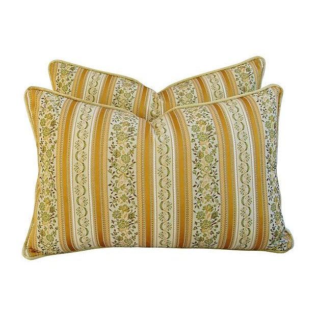 Designer Italian Brocatelle Silk Pillows - a Pair - Image 1 of 7