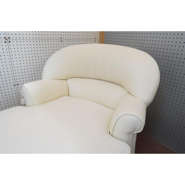 Traditional 1980s Vintage Cream Fabric Custom Chaise Lounge For Sale - Image 3 of 7