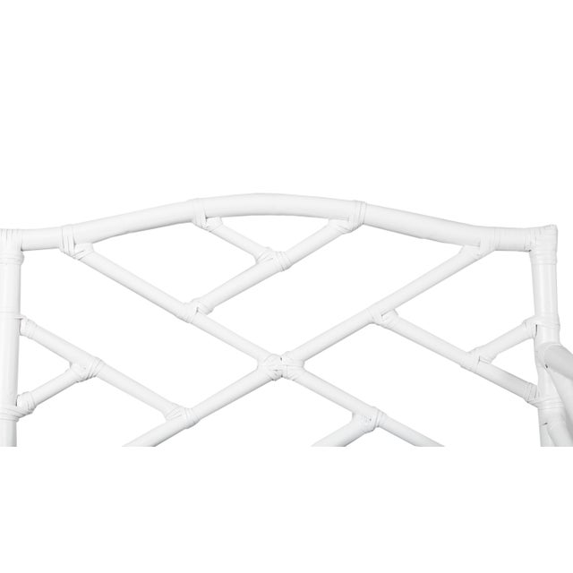 Not Yet Made - Made To Order Chippendale Bench - White For Sale - Image 5 of 6