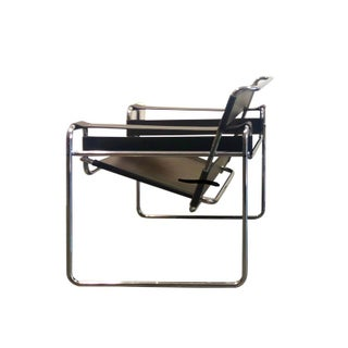 1980s Vintage Original Marcel Breuer for Stendig Brown Leather & Chrome Wassily Chair Preview