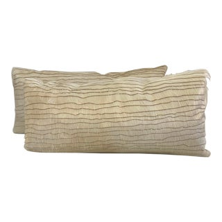 "Etched ""Maira"" Hair on Hide Pillows - a Pair For Sale"