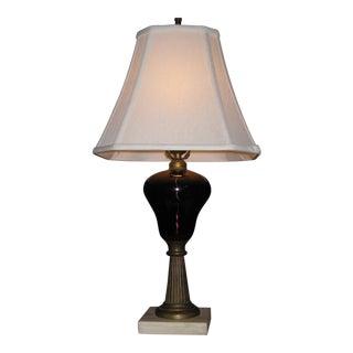 Vintage Purple Amethyst Glass Lamp