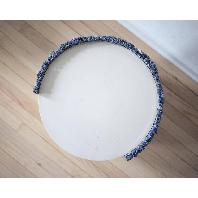 Not Yet Made - Made To Order Hand Made Blue Sodalite and White Plaster Drum, Side Table by Samuel Amoia For Sale - Image 5 of 9