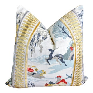 Robert Allen Modern Toile Pillow For Sale