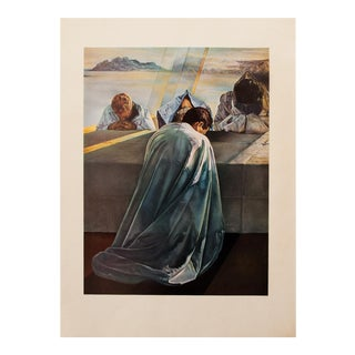"1957 Salvador Dalí, Original ""La Cène. Detail"" Period Lithograph Print For Sale"