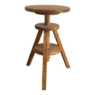 Vintage 3-Legged Wooden Milking Stool For Sale