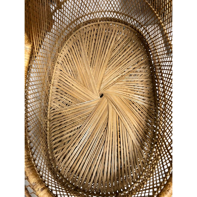 Boho Chic 1970s Vintage Boho Chic Rattan Bassinet For Sale - Image 3 of 6