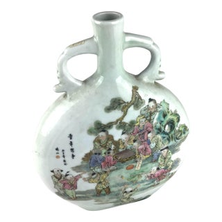 Chinese Porcelain Hand Painted Gourd Vase For Sale