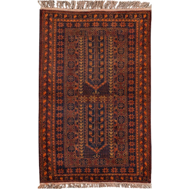"Apadana - Vintage Persian Balouch Rug - 2'10"" x 4'10"" - Image 1 of 3"