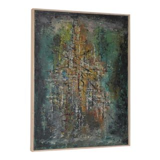 Classic Mid Century Modern Abstract Painting by Solik C.1959 For Sale
