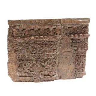 Antique Intricately Carved Teak Corbel