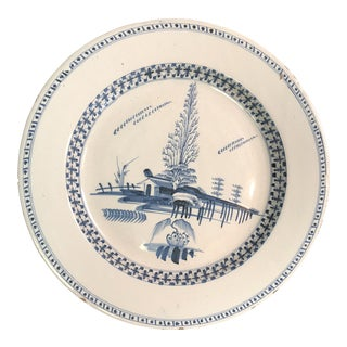 18th Century English Traditional Delft Charger For Sale