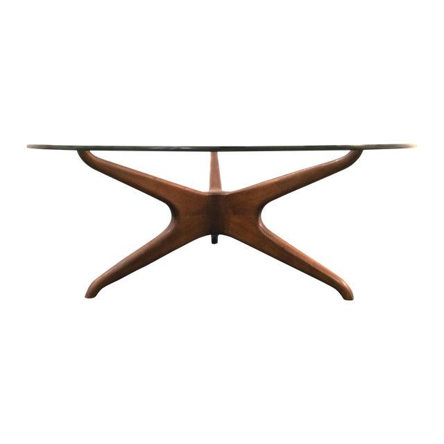 Vladimir Kagan Biomorphic Walnut Coffee Table - Image 1 of 8