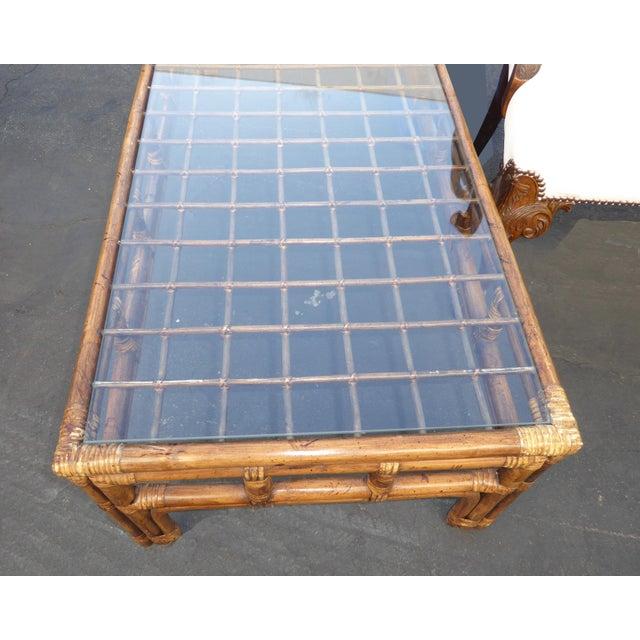 Modern Bamboo Coffee Table: Mid-Century Modern Bamboo Rattan Coffee Table