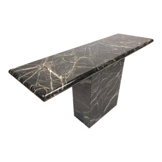 Black Marble Console Table For Sale