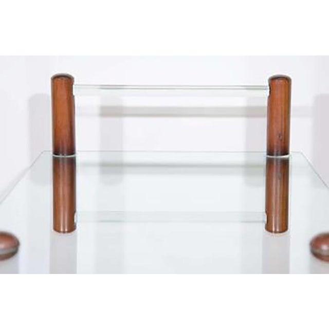 Art Deco Art Deco Gilbert Rohde Bar Cart All Original Glass and Wood For Sale - Image 3 of 4
