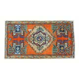 "Image of Hand Knotted Door Mat, Entryway Rug, Bath Mat, Kitchen Decor, Small Rug, Turkish Rug - 1'8"" X 2'11"" For Sale"