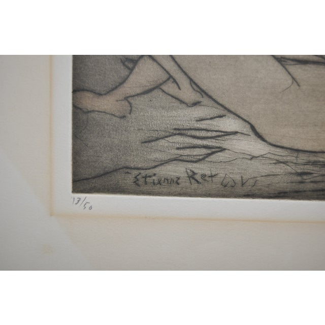 Vintage 70's Etching by French Artist Etienne Ret For Sale - Image 4 of 6