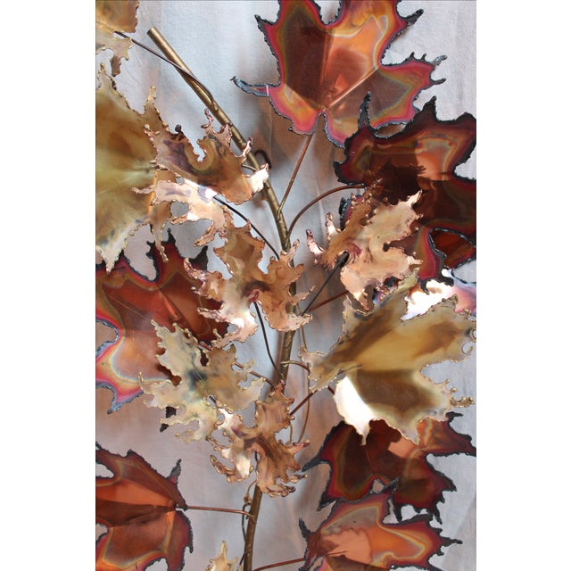 Curtis Jere Autumn Leaves Wall Sculpture - Image 3 of 6