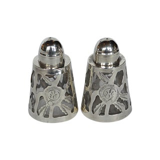 Mexican Sterling Salt & Pepper Shakers - A Pair