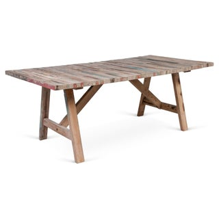 Salvaged Wood Balinese Trestle Table Preview