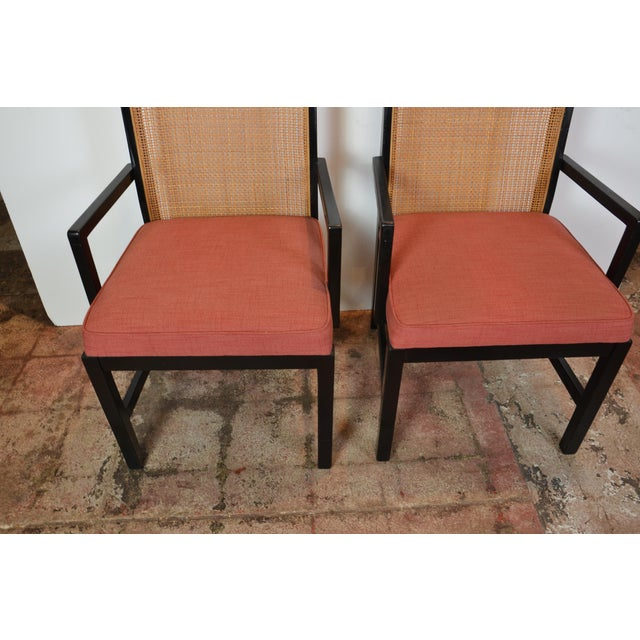 Pair of Black Frame Armchairs For Sale - Image 4 of 6