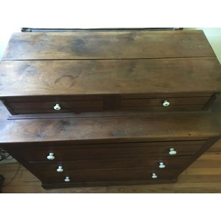 Antique Walnut Chest of Drawers With Tiger Maple, Circa Mid 1800's Preview