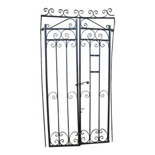 Vintage Iron Garden Gate Set For Sale