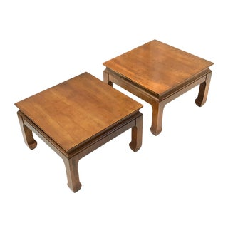 Mid-Century Asian Modern Maple Bunching Tables For Sale