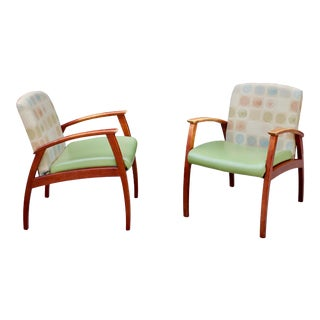 Adrain Pearsall Mid Century Modern Danish Walnut Lounge Arm Chairs - a Pair For Sale