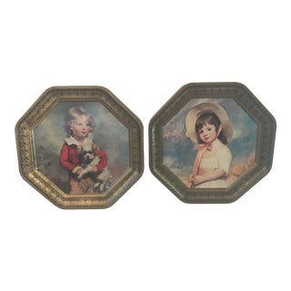 Vintage Victorian Children Wall Art - a Pair For Sale