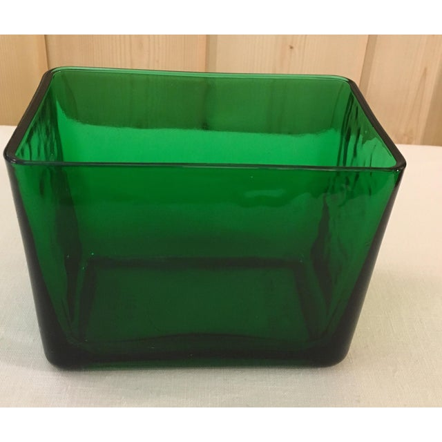 Mid-Century Emerald Green Glass Planter - Image 2 of 11
