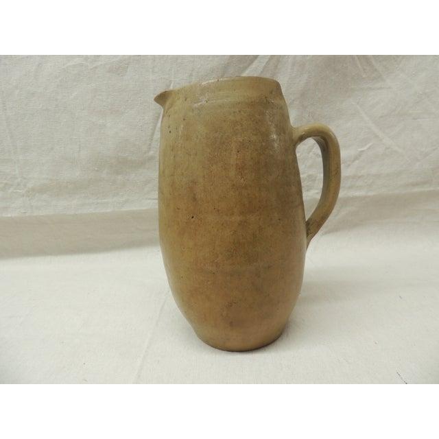 Vintage Glazed Stoneware Water Pitcher - Image 4 of 4