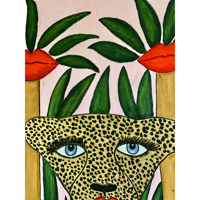 Contemporary Cheetah in the Jungle Mural For Sale - Image 3 of 7