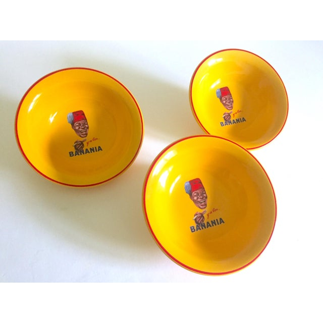 "This set of 3 "" Banania "" Jars France Editions Clouet rare vintage yellow ceramic bowls are an incredibly special and..."