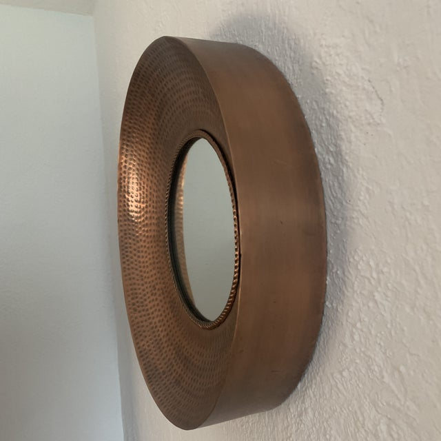 Hammered Copper Wall Mirror For Sale In Denver - Image 6 of 11